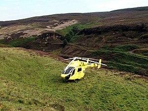 Yorkshire Air Ambulance - G-SASH in Derbyshire
