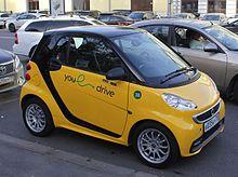 Автомобиль Smart компании YouDrive в Москве