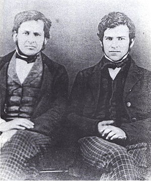 Jay Gould - Jay Gould (right) in 1855