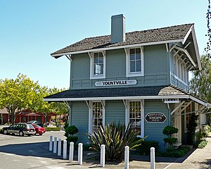 Wine Country (California) - Yountville historic rail station, Napa Valley.