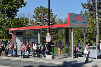 Züm - Station on York University campus