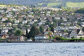 Richterswil - Richterswil as seen from Lake Zürich
