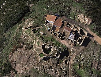 Castro of Zambujal - The Copper Age nucleus of the fortified site of Zambujal in autumn of 1994