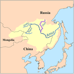 Amur River Map Zeya River   Wikipedia