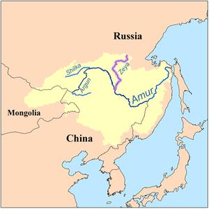 Zeya River - Image: Zeyarivermap
