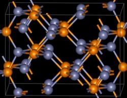 Kristallstruktur von Zinkphosphid