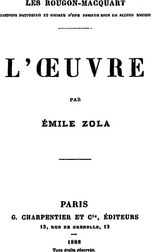 L'Œuvre - Image: Zola Masterpiece