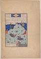 """The Sixth Joust of the Rooks- Bizhan Versus Ruyyin"", Folio 343r from the Shahnama (Book of Kings) of Shah Tahmasp MET DP245148.jpg"
