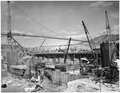 """""""View from the west side of Block 40 showing concreting operations, timber crib construction and excavation of clay... - NARA - 294298.tif"""