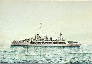 HMS M31 - Image: 'M.31' in the Mediterranean RMG PU6337