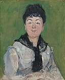 Édouard Manet - Portrait of a Woman with a Black Fichu - 1933.436 - Art Institute of Chicago.jpg