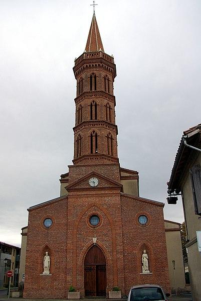 Église Saint-Orens de Brax (Haute-Garonne, France).