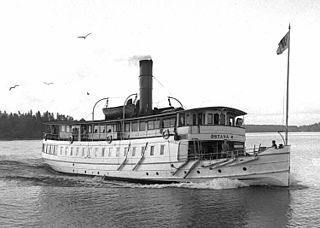 SS <i>Östanå II</i> former Swedish steam passenger ferry, built 1908, scrapped 1952