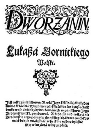 Łukasz Górnicki - Title page of Dworzanin polski