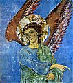 Ангел. Фрагмент фрески храма Кинцвиси. Конец 12 - начало 13 вв.jpg