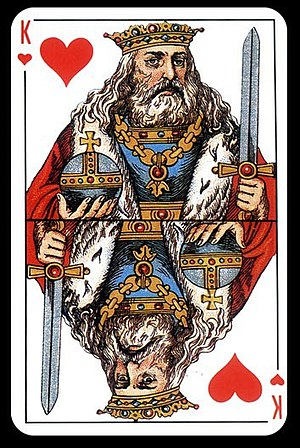 French playing cards - Russian pattern king of hearts