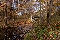 Осень в Сергиевке. Ажурный мостик на протоку к Огородному пруду..jpg