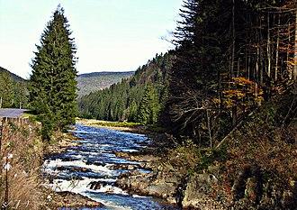 National Nature Park Synevir - Image: Річка в НПП Синевир