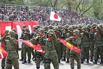 1st Division (Japan) - Watching march of the event of the 62nd anniversary of Nerima Gemini founding 51st anniversary of the founding of the 1st Division (April 14, 2013)