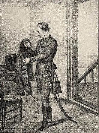 "Wachtmeister - Serbian ""Wachtmeister"", hussar-regiment 18th century."