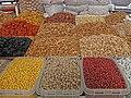 078 Eski Juva Bozori, mercat cobert de Chorsu (Taixkent), fruita seca.jpg