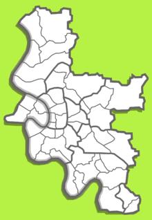 Düsseldorf Stadtteile Karte.Liste Der Stadtteile Von Düsseldorf Wikipedia