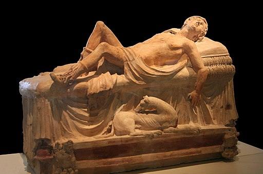 0 Monument funéraire - Adonis mourant - Museu Gregoriano Etrusco