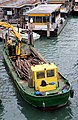 0 Venise Chaland de grumes - Riva del Carbon - Canal Grande.JPG