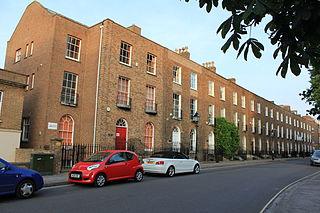 The Crescent, Taunton street in Taunton, United Kingdom