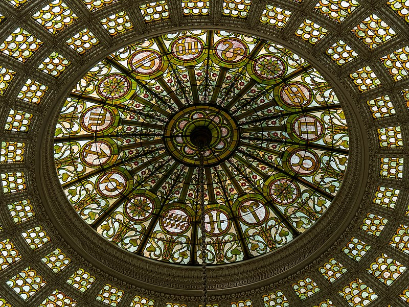 Tiffany glass dome