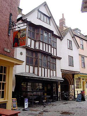 Lewin's Mead - A thirteenth-century building in Lewin's Mead, Bristol, now a fish and chip shop.