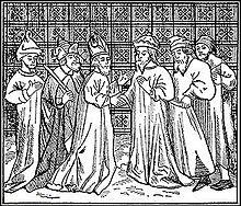 Rabbini del XIII secolo (illustrazione della Jewish Encyclopedia, 1906)