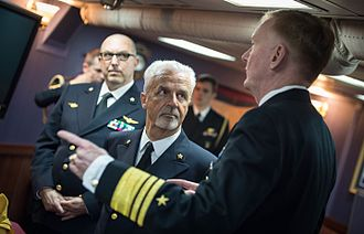 Filippo Maria Foffi - Image: 150520 N RB546 152 Vice Adm. James G. Foggo III talks with Chief of the Italian Fleet, Vice Adm. Filipo Maria Foffi