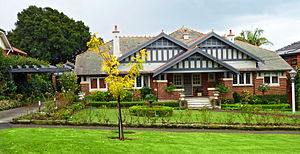 California bungalow - An arts and Crafts bungalow style home in the Sydney suburb of Roseville