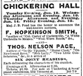 1892 ChickeringHall BostonGlobe January7.png