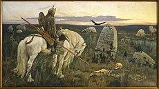 VASNETSOV Viktor A Knight at the Crossroads 1878
