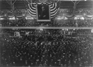 1904 Republican National Convention - Convention hall during the opening prayer