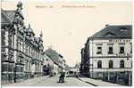 19216-Wurzen-1915-Bahnhofstraße mit Post-Brück & Sohn Kunstverlag.jpg
