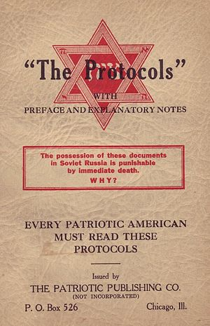Pseudohistory - American edition of the Protocols of the Elders of Zion from 1934