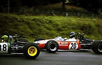 James Hunt - Hunt driving a Brabham BT21 in the Guards Trophy F3 race at Brands Hatch, 1969