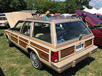 1983 Chrysler Town & Country station wagon at 2015 Macungie show 2of5.jpg