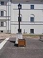 1 Rákóczi Road, lamp post with plaques, 2020 Sárospatak.jpg