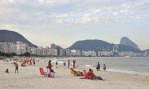 English: copacabana beach rio de janeiro brazi...