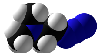 2-Dimethylaminoethylazide - Image: 2 Dimethylaminoethylaz ide Space Fill