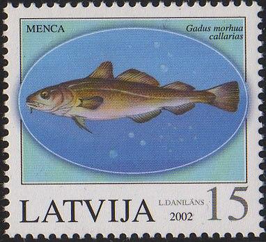 20020810 15sant Latvia Postage Stamp