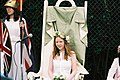 2005 May Queen of Brentham, England on her throne.jpg