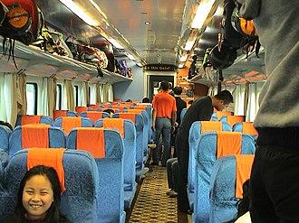 Hard seat - Hard seat coach of train T27