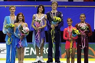2007–08 ISU Junior Grand Prix - The ice dancing podium at the Final