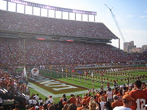 The University of Texas Longhorn Band - The Showband of the Southwest performs at Darrell K. Royal-Texas Memorial Stadium in 2007