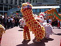 2008 Olympic Torch Relay in SF - Lion dance 35.JPG